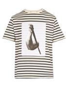 Matchesfashion.com Jw Anderson - Striped Cotton T Shirt - Mens - Cream