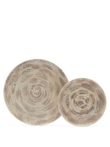 Matchesfashion.com Brunello Cucinelli - Glazed-ceramic Side And Dinner Plate Set - Cream