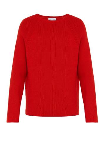 Matchesfashion.com Raey - Crew Neck Merino Wool Sweater - Mens - Red