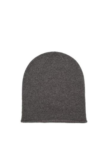 Matchesfashion.com Johnstons Of Elgin - Rolled-hem Cashmere Beanie Hat - Womens - Grey