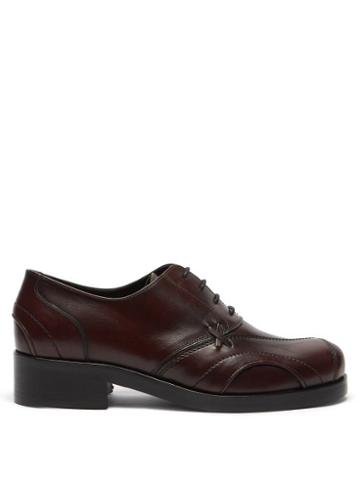 Matchesfashion.com Stefan Cooke - Panelled Leather Oxford Shoes - Mens - Burgundy