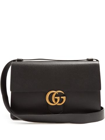 Gucci Gg Marmont Grained-leather Messenger Bag