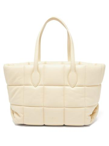 Khaite - Florence Quilted Leather Tote Bag - Womens - Cream