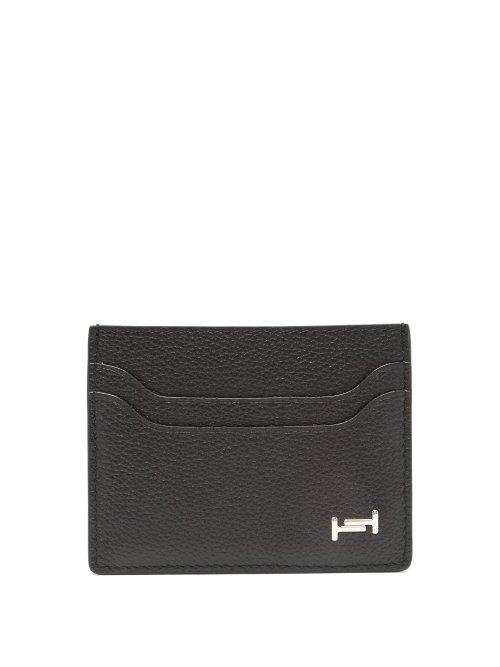 Matchesfashion.com Tod's - Grained Leather Cardholder - Mens - Black