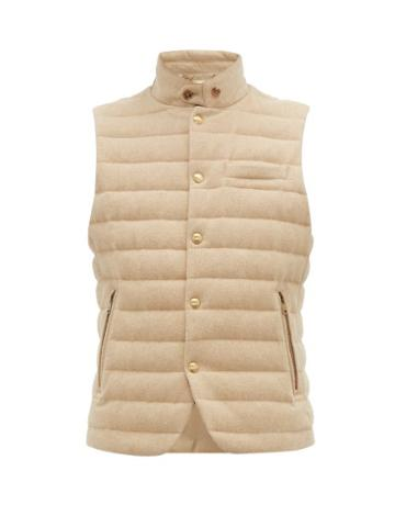 Matchesfashion.com Ralph Lauren Purple Label - Whitewell Quilted Wool Gilet - Mens - Cream