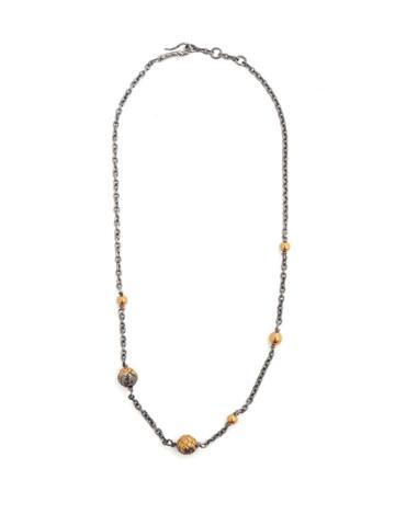 Bottega Veneta Dichotomy Intrecciato Drop Necklace