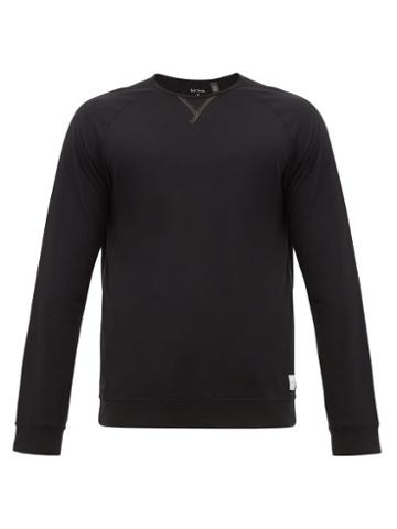 Matchesfashion.com Paul Smith - Long Sleeved Cotton Pyjama T Shirt - Mens - Black