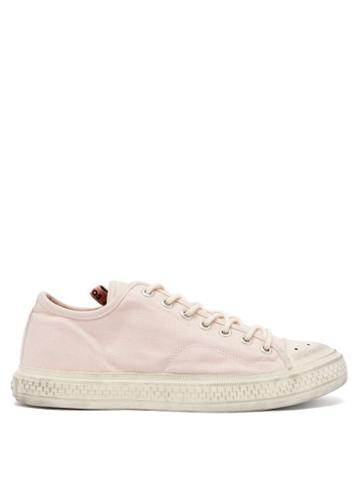 Matchesfashion.com Acne Studios - Distressed Cotton-canvas Trainers - Womens - Pink