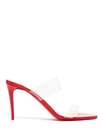Matchesfashion.com Christian Louboutin - Just Nothing 85 Mules - Womens - Red
