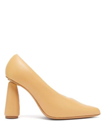 Matchesfashion.com Jacquemus - Padded Leather Pumps - Womens - Nude
