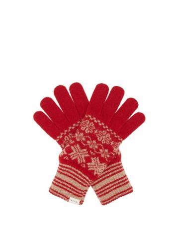 Paul Smith - Fair Isle Wool Gloves - Mens - Red