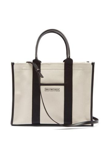 Balenciaga - Neo M Canvas Tote Bag - Womens - Black Cream