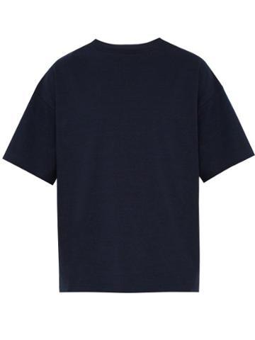 Matchesfashion.com Raey - Crew Neck Cotton Jersey T Shirt - Mens - Navy