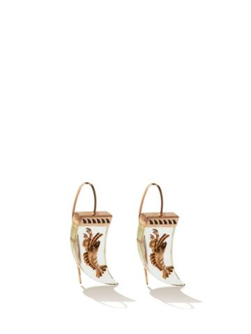 Matchesfashion.com Dezso - Lemon Quartz & 18kt Rose-gold Earrings - Womens - Yellow Multi