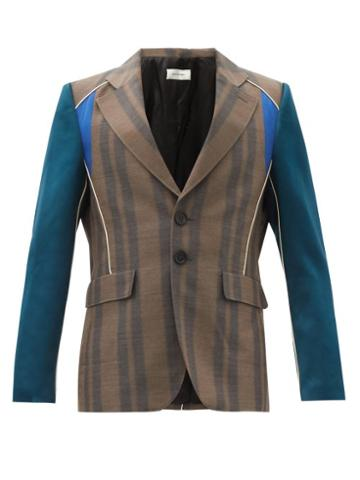 Matchesfashion.com Wales Bonner - Isaacs Single-breasted Wool-blend Twill Jacket - Mens - Brown