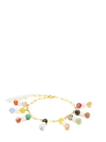 Matchesfashion.com Timeless Pearly - Pearl Embellished Gold Plated Anklet - Womens - Gold
