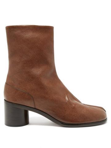 Matchesfashion.com Maison Margiela - Tabi Split-toe Leather Ankle Boots - Mens - Olive Green
