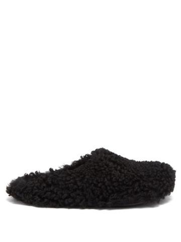 Mens Shoes Marni - Shearling Mules - Mens - Black