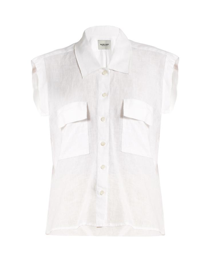 Rachel Comey Brewster Linen Sleeveless Shirt