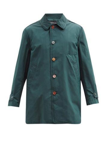 Matchesfashion.com Undercover - Mismatched-button Cotton-blend Overcoat - Mens - Blue