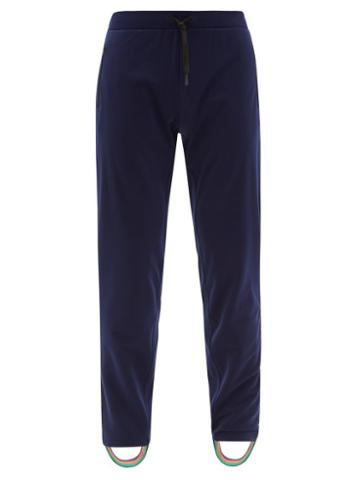 Matchesfashion.com Iffley Road - Royston Stirrup-cuff Technical-fleece Track Pants - Mens - Navy