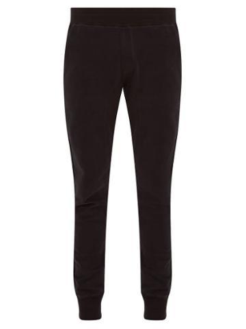 Matchesfashion.com Frescobol Carioca - Leblon Organic Cotton Jersey Track Pants - Mens - Black