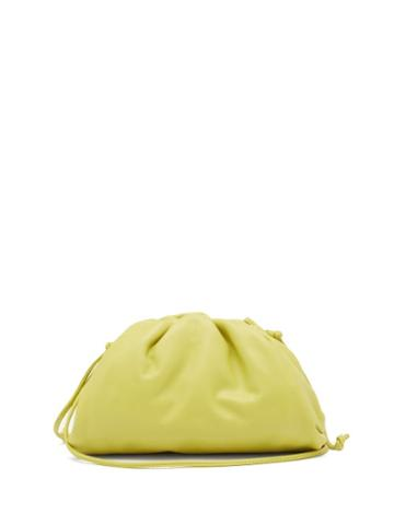 Matchesfashion.com Bottega Veneta - The Pouch Small Leather Clutch - Womens - Green