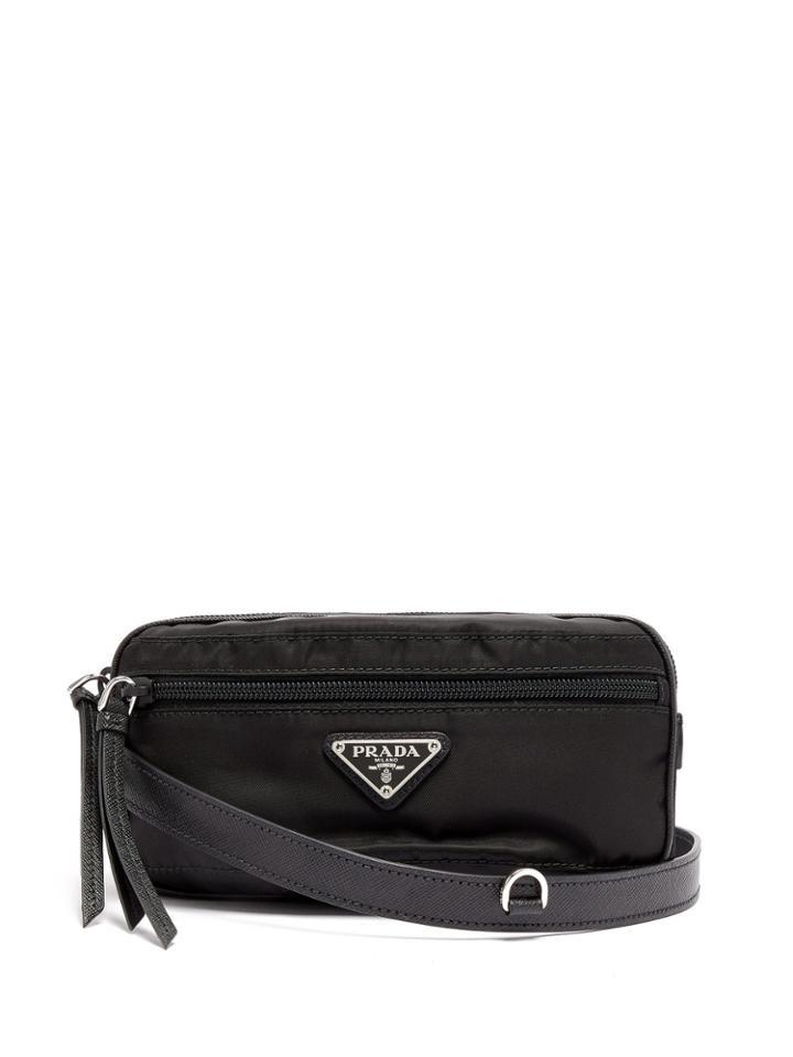 32729e504bab Prada Nylon And Leather Belt Bag
