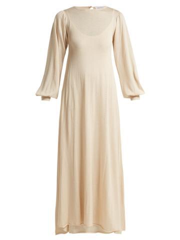Ryan Roche Two-layer Cashmere-blend Knit Dress