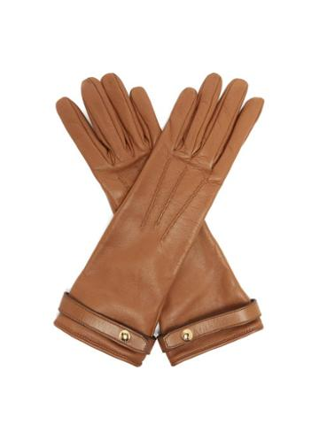 Matchesfashion.com Burberry - Leather Gloves - Womens - Brown