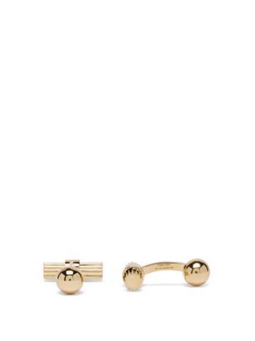 Tom Ford - Striped 18k-gold Cufflinks - Mens - Gold
