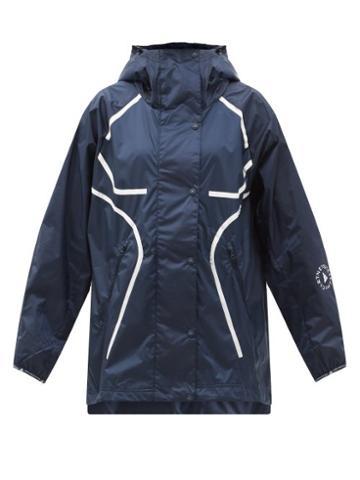 Matchesfashion.com Adidas By Stella Mccartney - Truepace Recycled-ripstop Rain Jacket - Womens - Navy