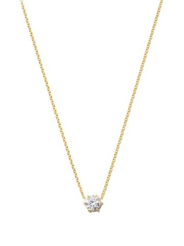Matchesfashion.com Jade Trau - Penelope Diamond Solitaire & 18kt Gold Necklace - Womens - Yellow Gold