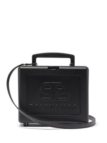 Matchesfashion.com Balenciaga - Lunch Box Bb-embossed Cross-body Bag - Mens - Black