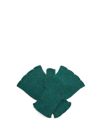 Matchesfashion.com The Elder Statesman - Cashmere Fingerless Gloves - Womens - Green Multi