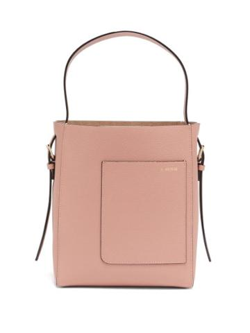 Matchesfashion.com Valextra - Small Grained-leather Tote Bag - Womens - Light Pink