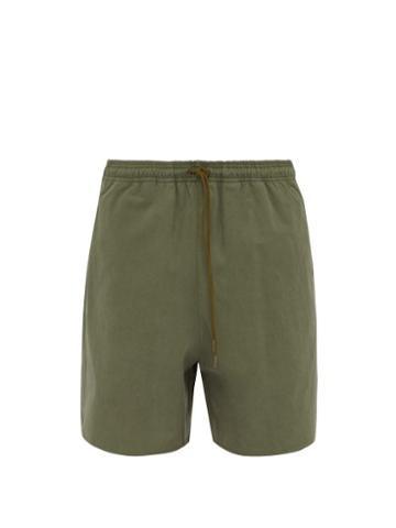 Matchesfashion.com Kuro - Cotton Twill Shorts - Mens - Khaki