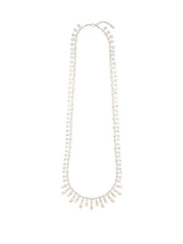 Matchesfashion.com Alessandra Rich - Crystal And Faux Pearl Necklace - Womens - Crystal