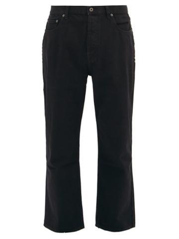 Matchesfashion.com Valentino - Cropped Rockstud-embellished Jeans - Mens - Black