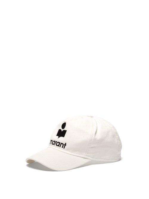 Matchesfashion.com Isabel Marant - Tyron Logo Embroidered Baseball Cap - Womens - White