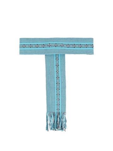Matchesfashion.com Pippa Holt - Fringed Handwoven Cotton Belt - Womens - Light Blue