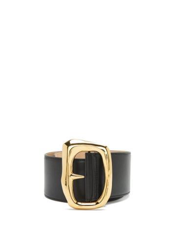 Matchesfashion.com Alexander Mcqueen - Molten Leather Belt - Womens - Black