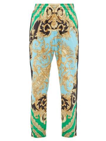 Matchesfashion.com Versace - Baroque Print Shell Track Pants - Mens - Green Multi