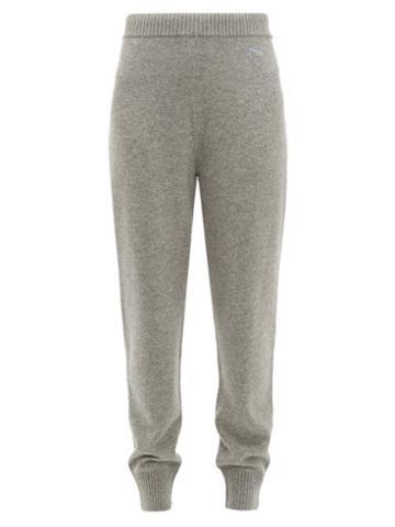 Matchesfashion.com Prada - Mid Rise Cashmere Track Pants - Womens - Grey