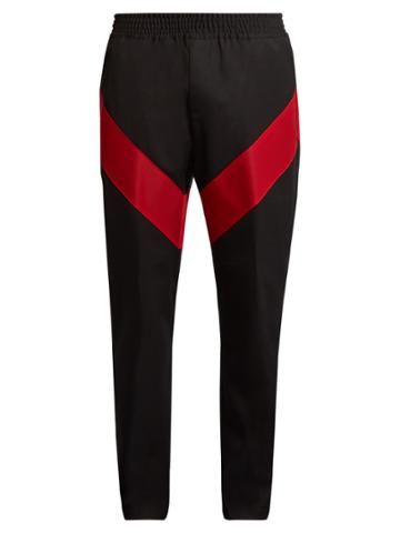 Givenchy Contrast-stripe Wool-twill Track Pants