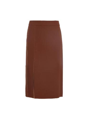 Nina Ricci Double-crepe Split Pencil Skirt