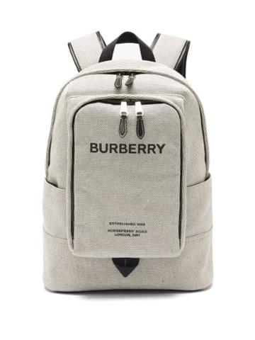 Matchesfashion.com Burberry - Jack Horseferry-logo Cotton-canvas Backpack - Mens - Black