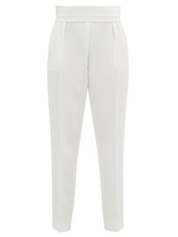 Matchesfashion.com Max Mara - Anagni Trousers - Womens - White