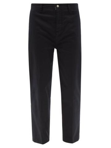 Matchesfashion.com Frame - Cotton-blend Twill Slim-leg Chino Trousers - Mens - Black
