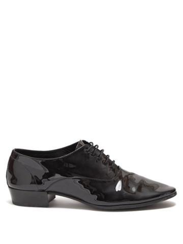 Matchesfashion.com Saint Laurent - Smoking Patent-leather Oxford Shoes - Mens - Black